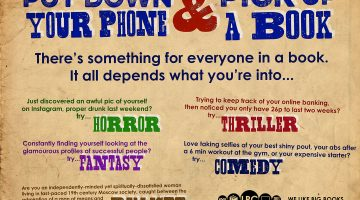 Put Down Your Phone and Pick Up A Book