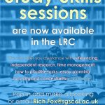 Study Skills sessions available