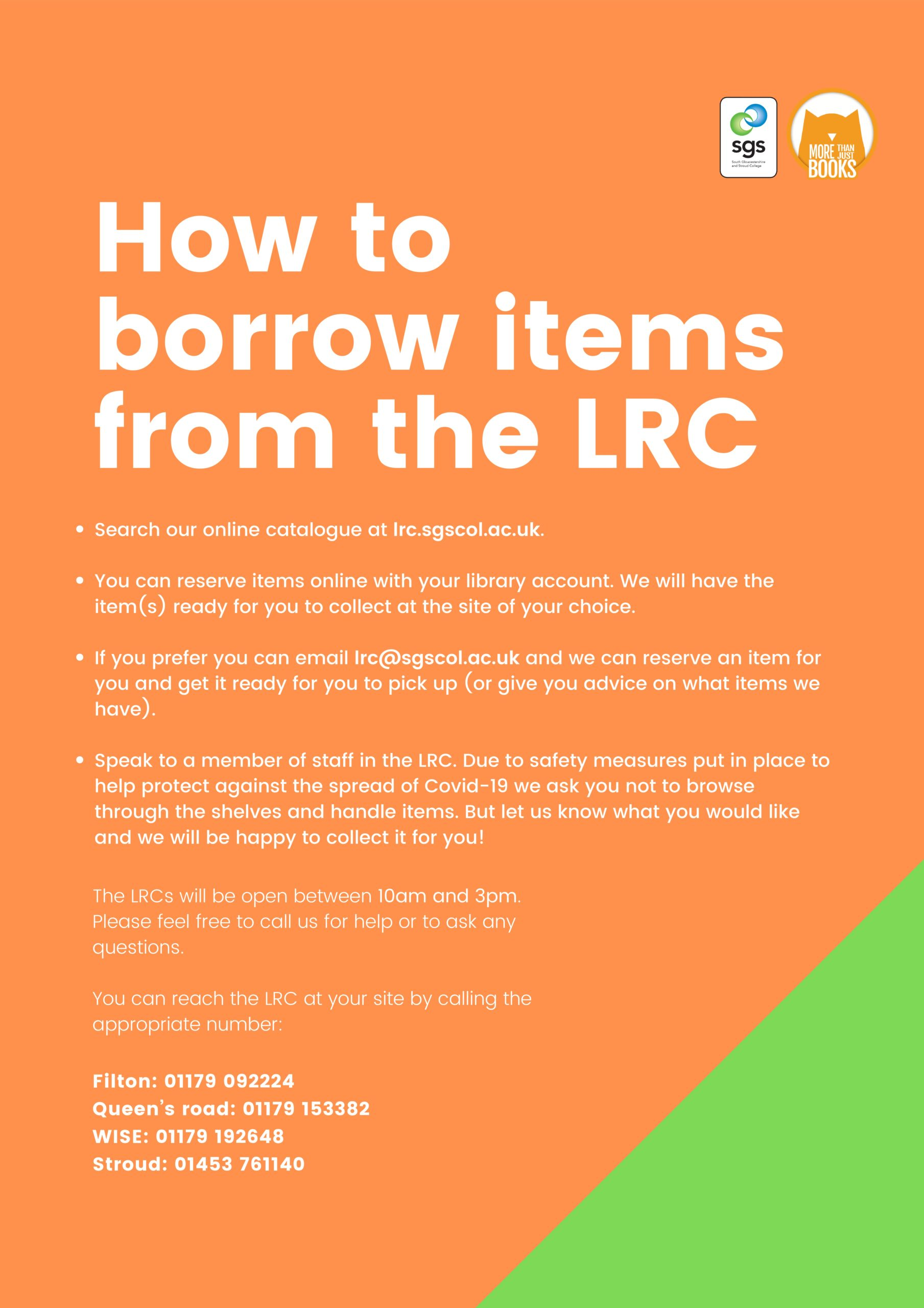 COVID - How to borrow from SGS LRC