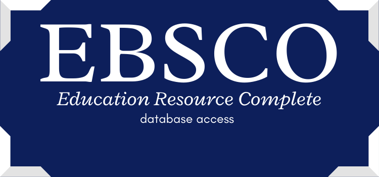 Text reads: EBSCO - Education Resource Complete - database access