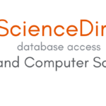 "Header image. Text reads, ""Science Direct / database access / I.T. and Computer Science"". The Science Direct logo is on the left hand side, depicting a stylised medieval philosopher plucking grapes from a tree, besides which is a banner that reads ""Non Solus""."