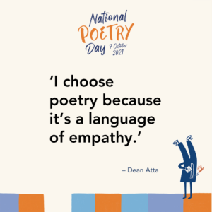 """'I choose poetry because it's a language of empathy."""" - Dean Atta"""